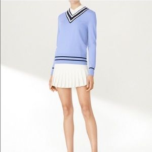 Tory Sport V Neck sweater with COOLMAX